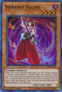 YuGiOh! TCG karta: Shiranui Squire
