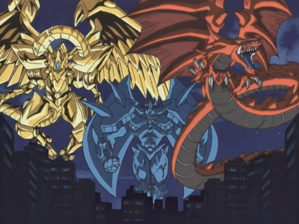 The Egyptian God Cards Materialize In City