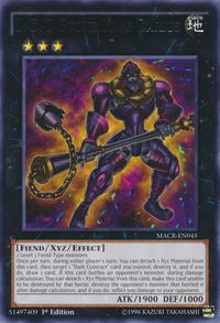 YuGiOh! TCG karta: D/D/D Stone King Darius