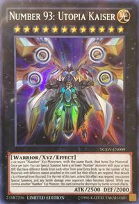 YuGiOh! TCG karta: Number 93: Utopia Kaiser