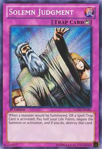 YuGiOh! TCG karta: Solemn Judgment