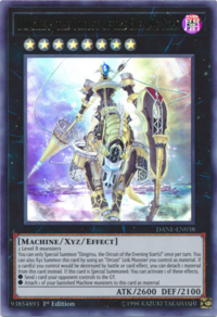 YuGiOh! TCG karta: Dingirsu, the Orcust of the Evening Star