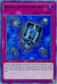 YuGiOh! TCG karta: Eradicator Epidemic Virus