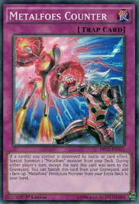YuGiOh! TCG karta: Metalfoes Counter