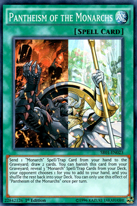YuGiOh! TCG karta: Pantheism of the Monarchs