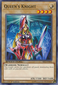 YuGiOh! TCG karta: Queens Knight