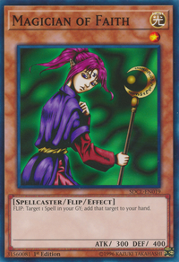 YuGiOh! TCG karta: Magician of Faith