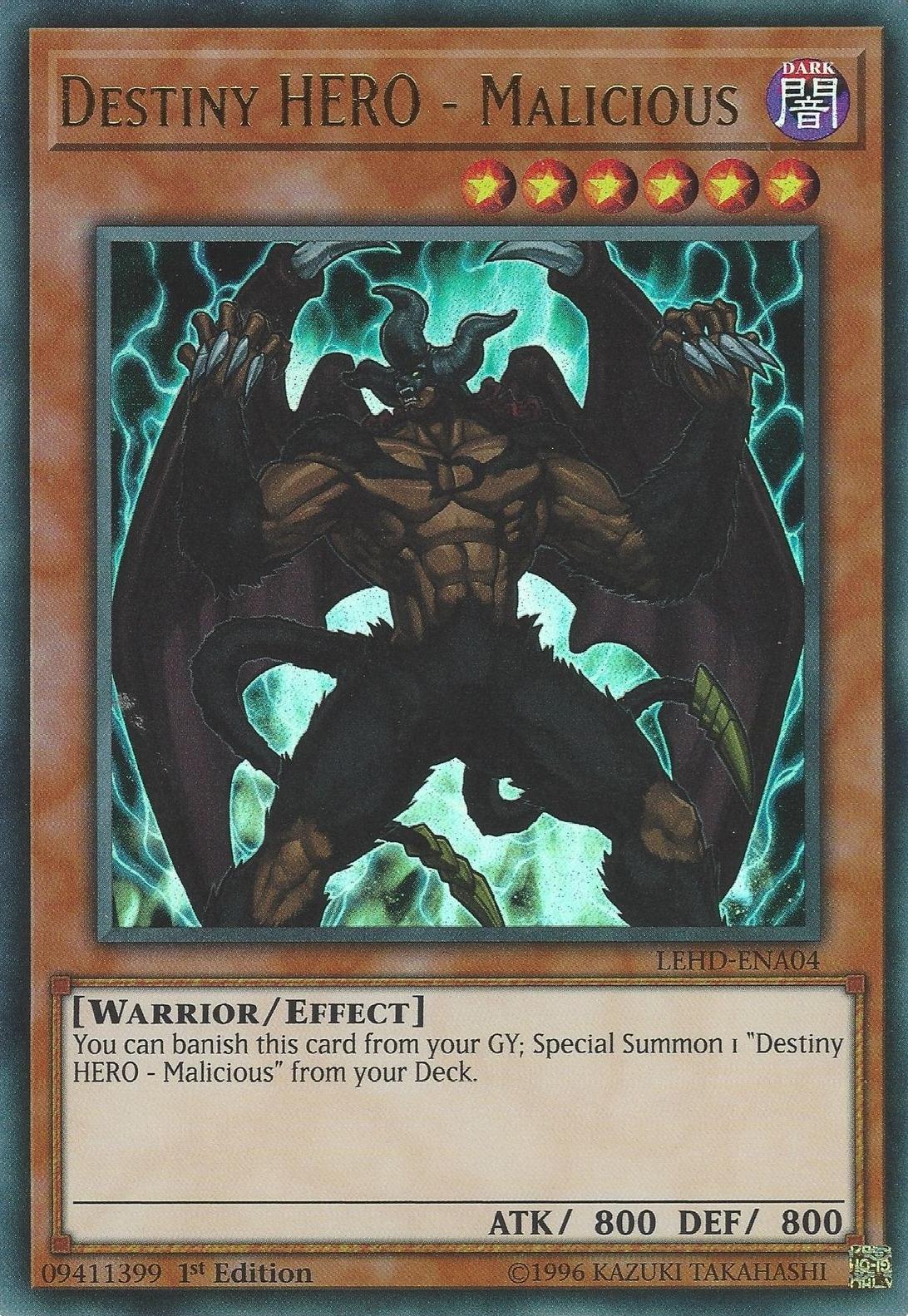Destiny HERO - Malicious | Yu-Gi-Oh! | FANDOM powered by Wikia
