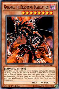 YuGiOh! TCG karta: Gandora the Dragon of Destruction