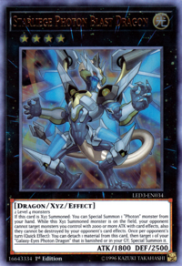 YuGiOh! TCG karta: Starliege Photon Blast Dragon