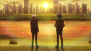 Takeru and Yusaku at sunset