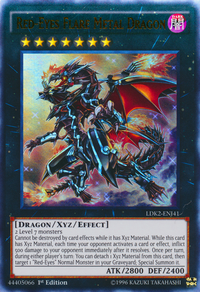 YuGiOh! TCG karta: Red-Eyes Flare Metal Dragon