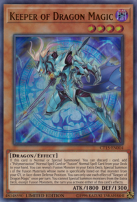 YuGiOh! TCG karta: Keeper of Dragon Magic