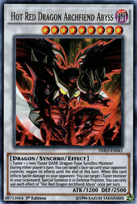 YuGiOh! TCG karta: Hot Red Dragon Archfiend Abyss