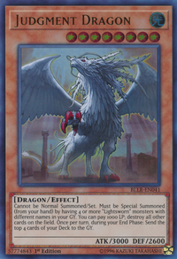YuGiOh! TCG karta: Judgment Dragon
