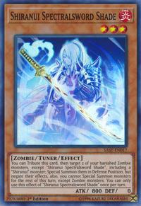 YuGiOh! TCG karta: Shiranui Spectralsword Shade