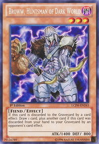 YuGiOh! TCG karta: Broww, Huntsman of Dark World