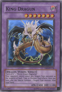 YuGiOh! TCG karta: King Dragun