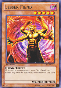 YuGiOh! TCG karta: Lesser Fiend