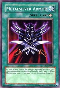 YuGiOh! TCG karta: Metalsilver Armor