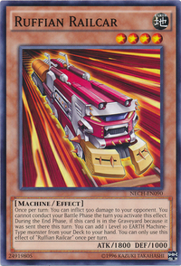 YuGiOh! TCG karta: Ruffian Railcar