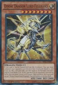 YuGiOh! TCG karta: Divine Dragon Lord Felgrand