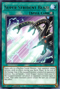 YuGiOh! TCG karta: Super Strident Blaze