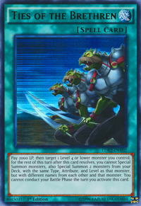 YuGiOh! TCG karta: Ties of the Brethren