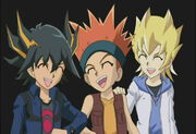Yusei, Crow and Jack