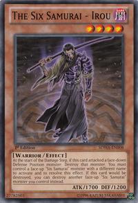 YuGiOh! TCG karta: The Six Samurai - Irou
