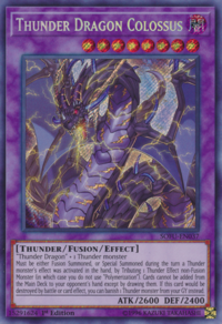 YuGiOh! TCG karta: Thunder Dragon Colossus