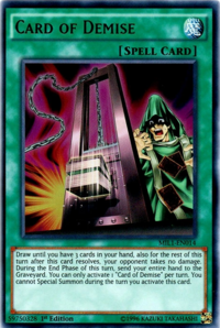 YuGiOh! TCG karta: Card of Demise
