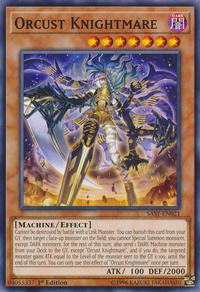 YuGiOh! TCG karta: Orcust Knightmare