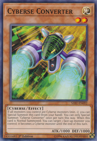 YuGiOh! TCG karta: Cyberse Converter