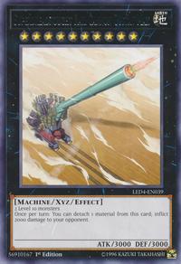 YuGiOh! TCG karta: Superdreadnought Rail Cannon Gustav Max