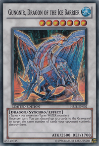 YuGiOh! TCG karta: Gungnir, Dragon of the Ice Barrier
