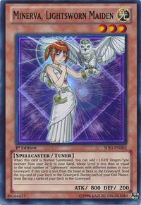 YuGiOh! TCG karta: Minerva, Lightsworn Maiden