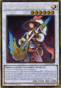 YuGiOh! TCG karta: Virgil, Rock Star of the Burning Abyss