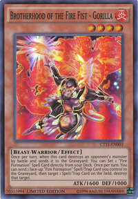 YuGiOh! TCG karta: Brotherhood of the Fire Fist - Gorilla