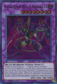 YuGiOh! TCG karta: Gladiator Beast Andabata