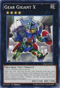 YuGiOh! TCG karta: Gear Gigant X