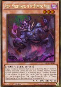 YuGiOh! TCG karta: Rubic, Malebranche of the Burning Abyss