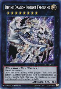 YuGiOh! TCG karta: Divine Dragon Knight Felgrand