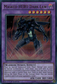YuGiOh! TCG karta: Masked HERO Dark Law
