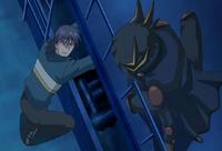 Aoyama's escape route