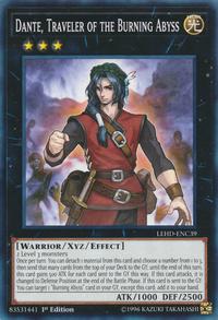 YuGiOh! TCG karta: Dante, Traveler of the Burning Abyss