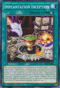 YuGiOh! TCG karta: Impcantation Inception