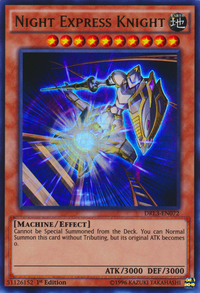YuGiOh! TCG karta: Night Express Knight