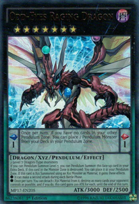 YuGiOh! TCG karta: Odd-Eyes Raging Dragon
