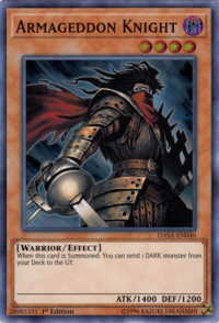 YuGiOh! TCG karta: Armageddon Knight